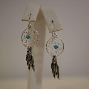 .925 Sterling Silver Dream catcher Earrings
